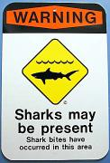 picture of shark warning sign